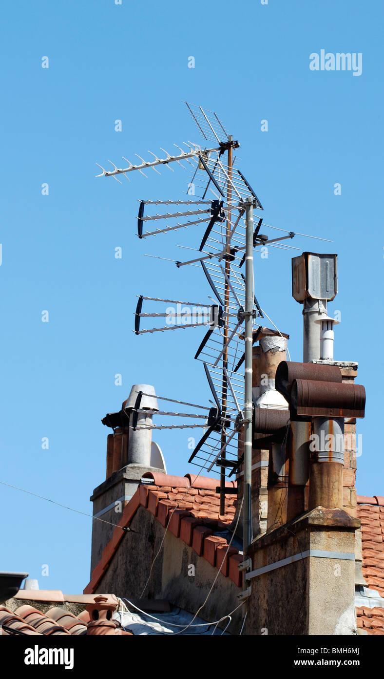 Chimney Antenna Mast ~ Chimney cowl stock photos images alamy