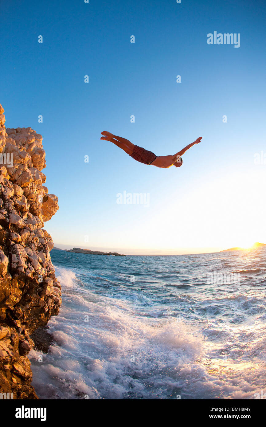 Cliff Diving Stock Photos & Cliff Diving Stock Images