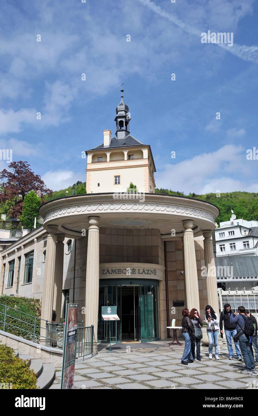 Zamecke lazne with  kolonada,  Karlovy Vary ,Czech Republic East Europa - Stock Image