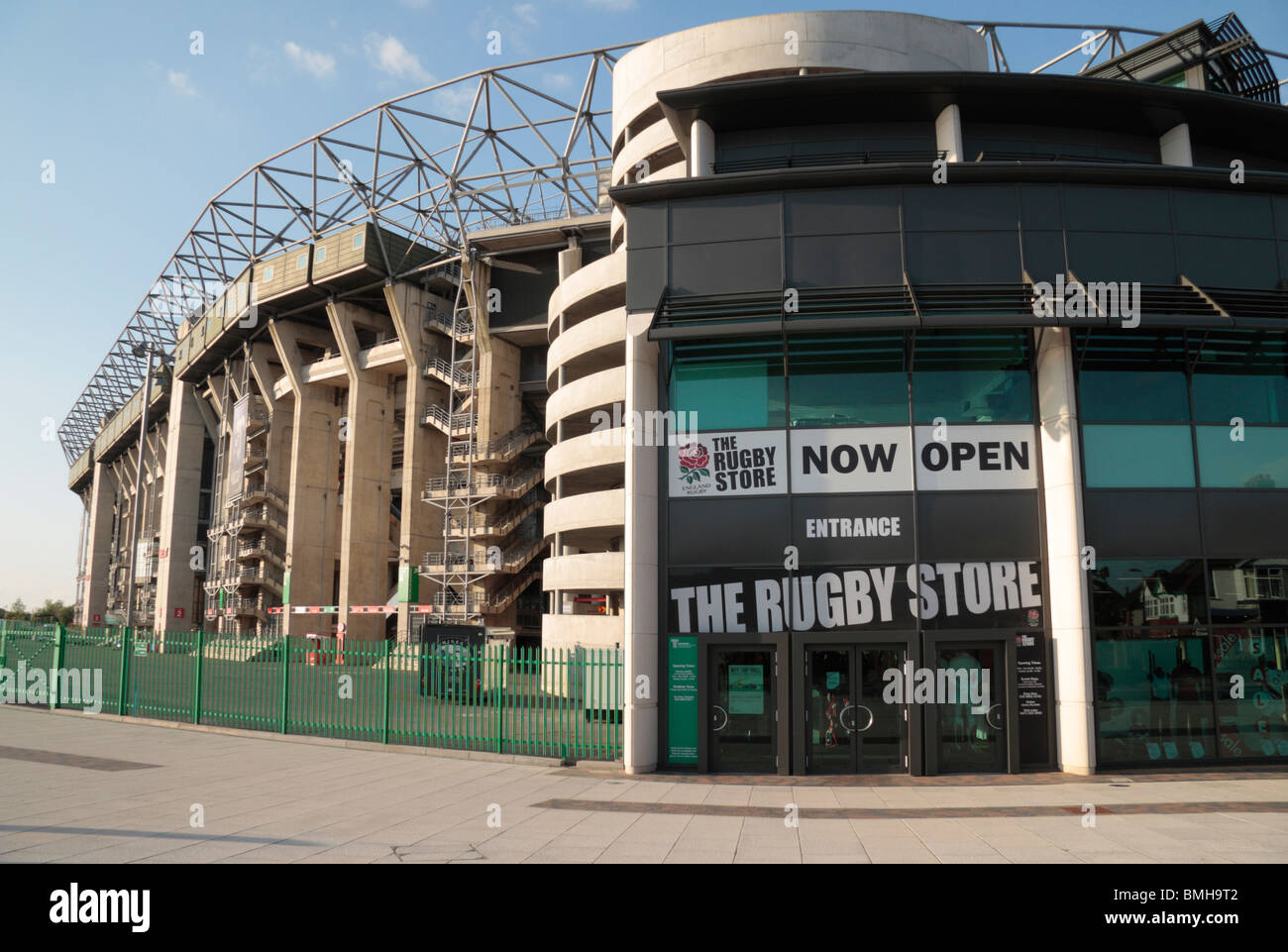 The Rugby Store at Twickenham Rugby Stadium, home of English International rugby, in south west London, UK. - Stock Image