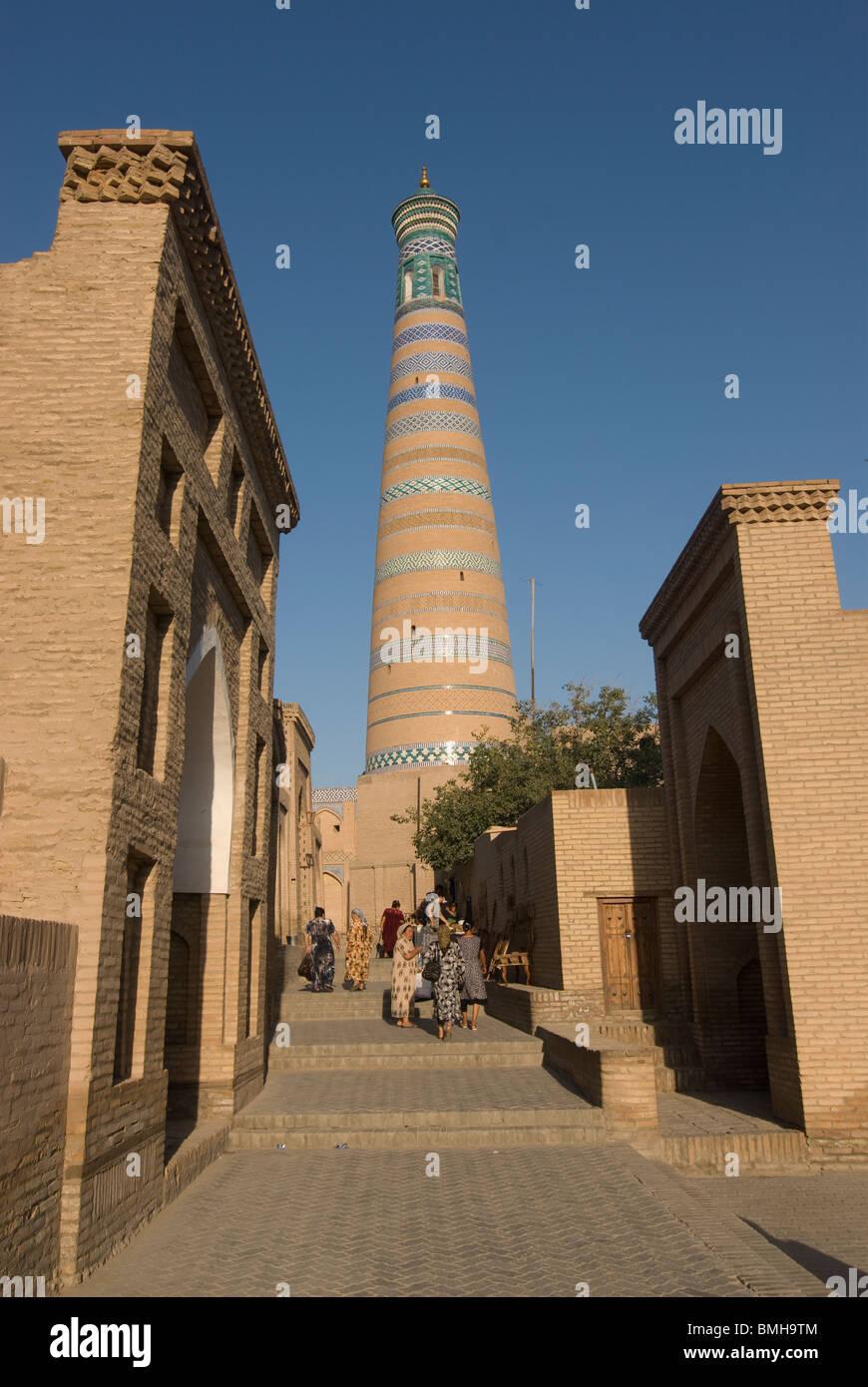 Mausoleum of Pahlavon Mahmud, Khiva. Usbekistan at Ichon Qala Fortress, Khiva, Uzbekistan - Stock Image