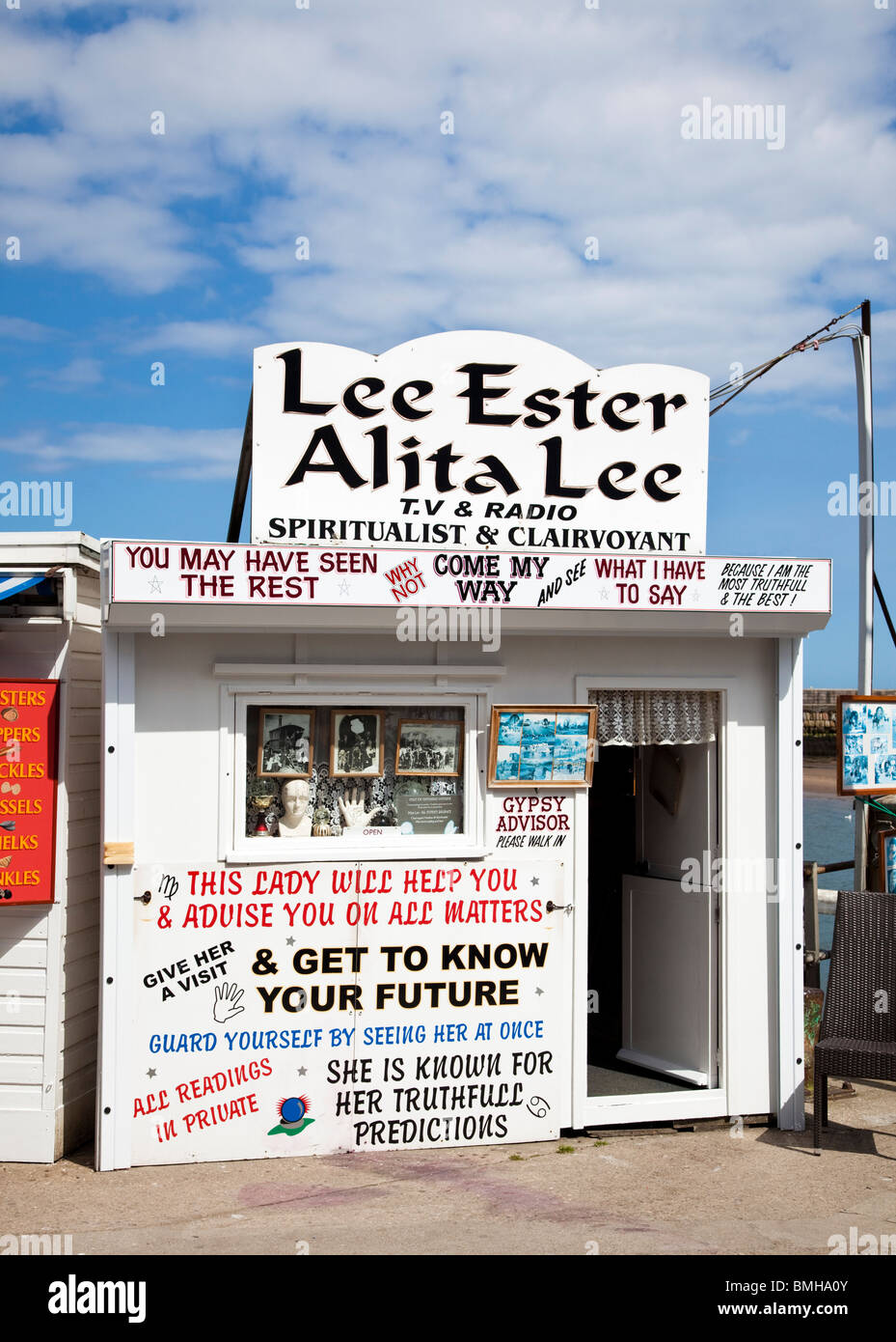 Fortune teller at a British seaside resort England UK - Stock Image