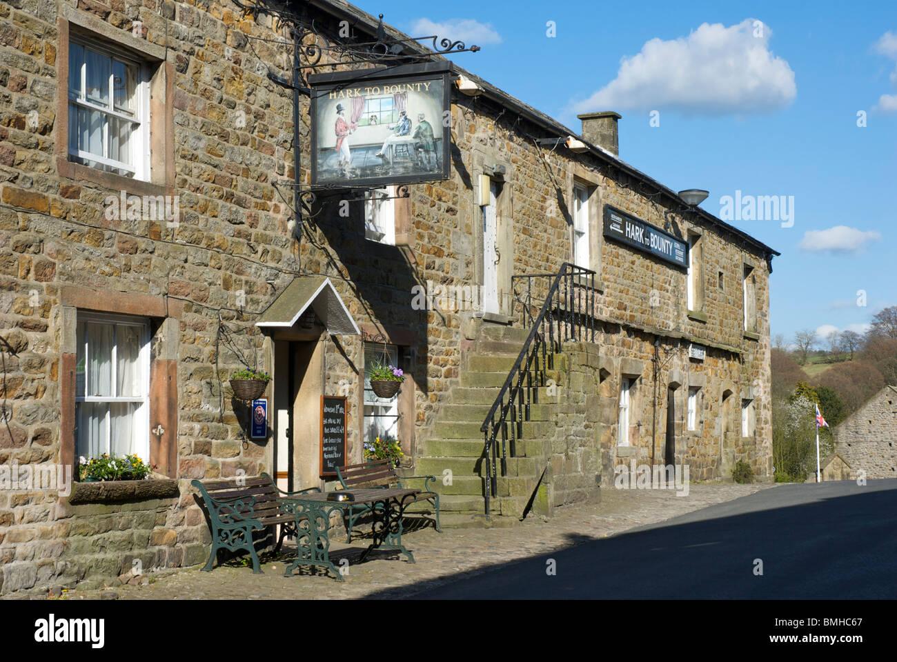 The Hark to Bounty pub, Slaidburn, Lancashire, England UK - Stock Image