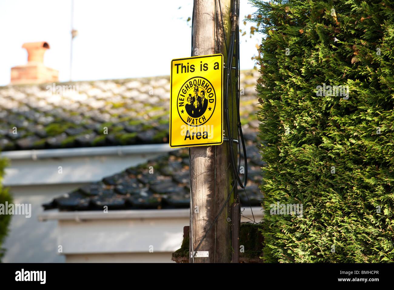 Neighbourhood Watch Sign - Stock Image