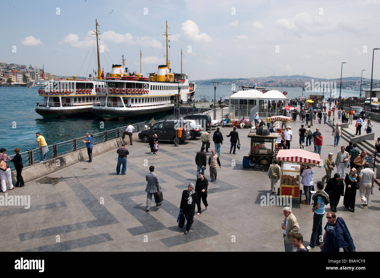Golden Horn Istanbul Turkey transport ferry boat - Stock Image