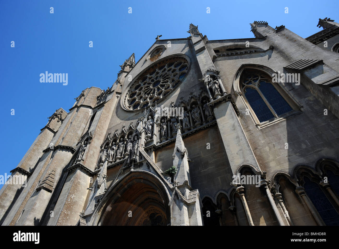 The front of Arundel Cathedral - Stock Image