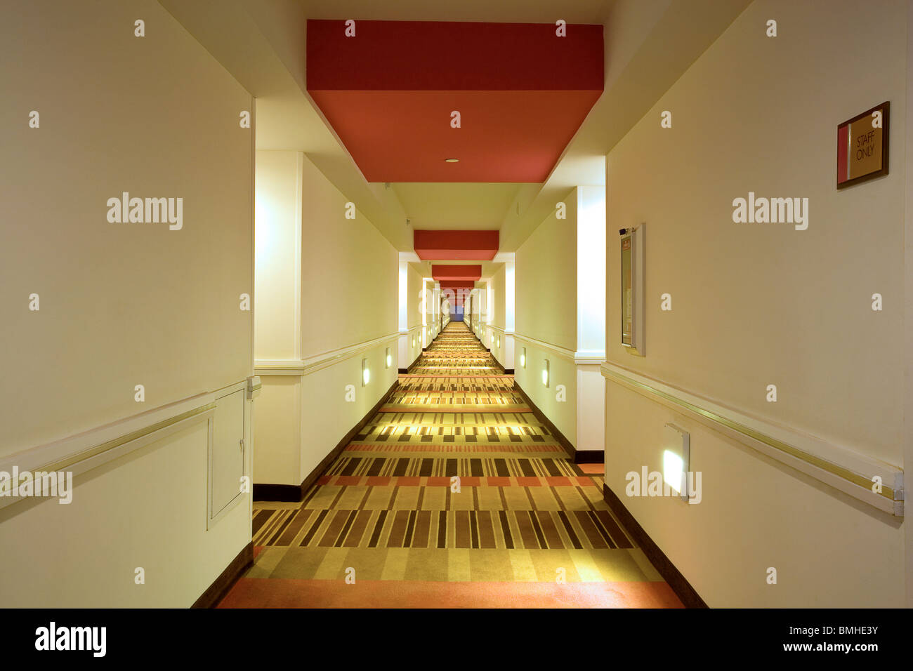 The corridor at the Flamingo Hotel Las Vegas - Stock Image