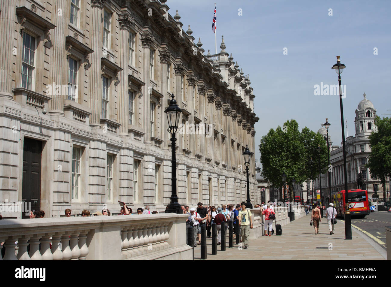 Government buildings on Whitehall, Westminster, London, England, U.K. - Stock Image