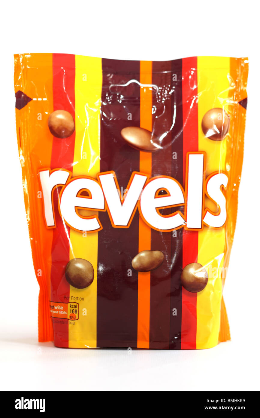 Bag of Revels Chocolates - Stock Image
