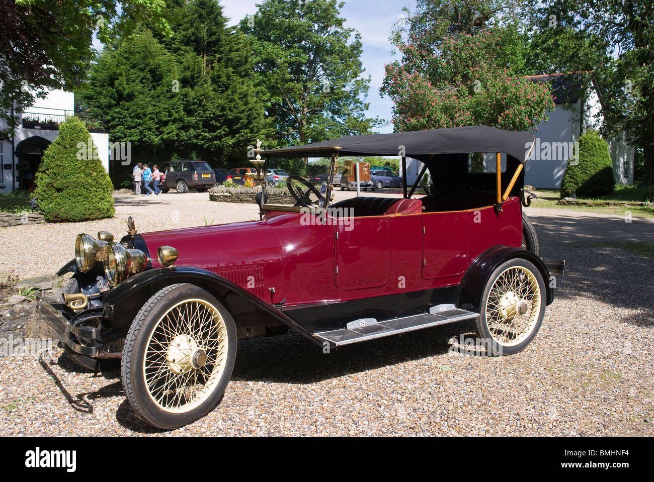 Old Buick soft-top saloon car of historic value Stock Photo ...
