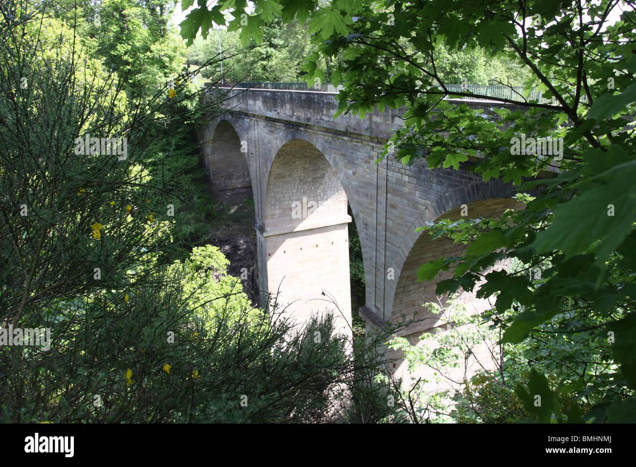 Cartland Bridge on the A73 South Lanarkshire Scotland  June 2010 - Stock Image