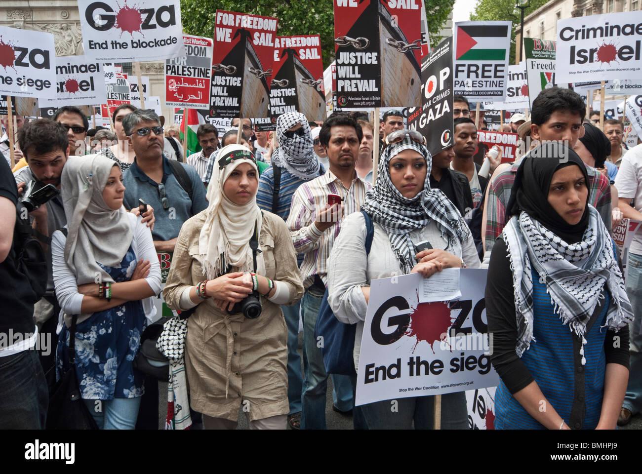 DEMO AGAINST ISRAEL - Stock Image