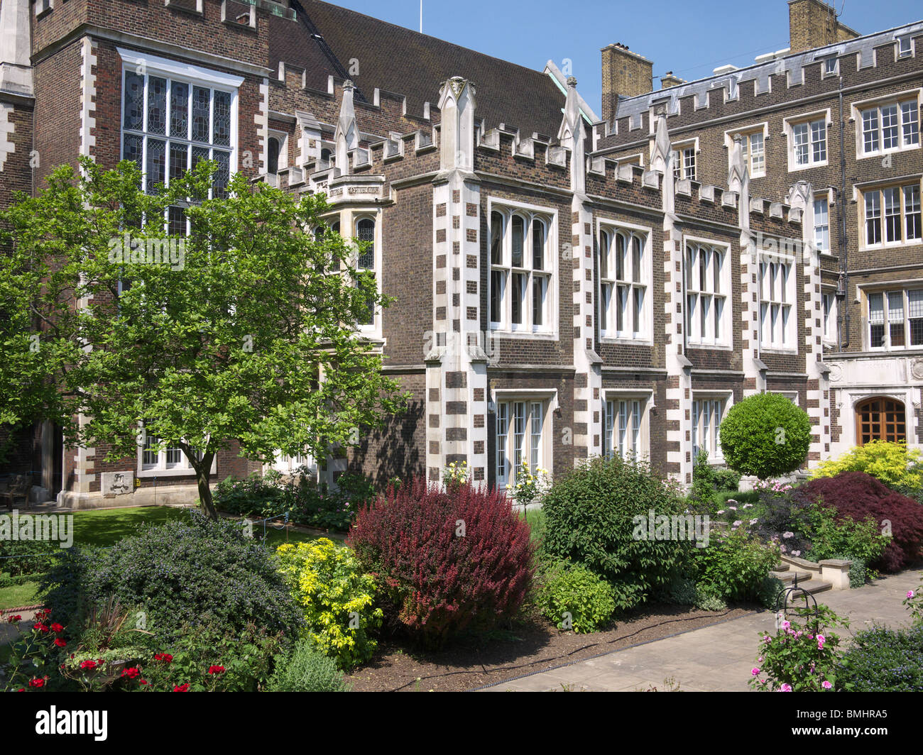 Middle Temple Hall and Middle Temple Gardens London uk - Stock Image