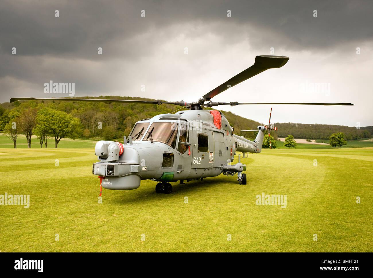 Westland Lynx Mk8 Helicopter - Stock Image
