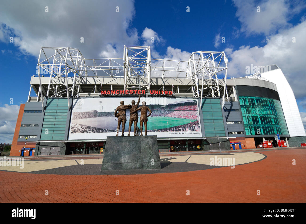 Old Trafford football ground home of Mancester United, the Theatre of Dreams - Stock Image