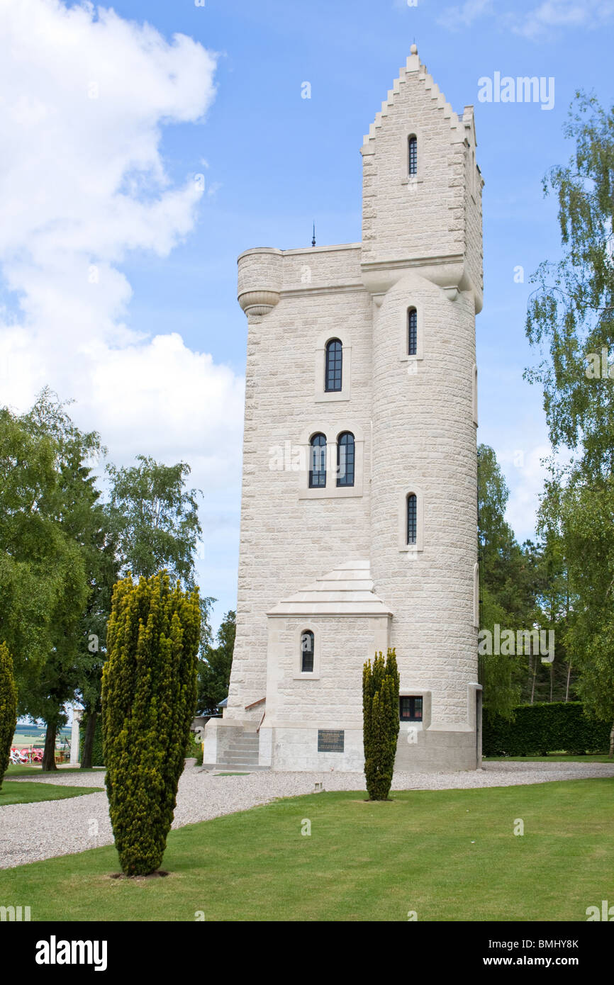 The Ulster Tower Memorial at Thiepval France - Stock Image
