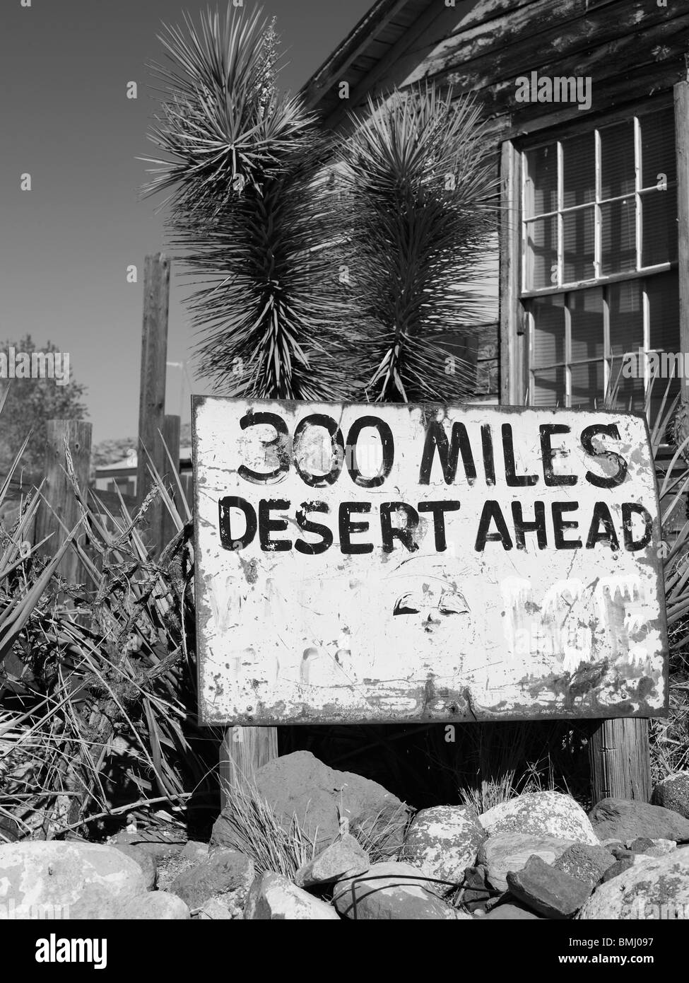 Road sign in the desert - Stock Image