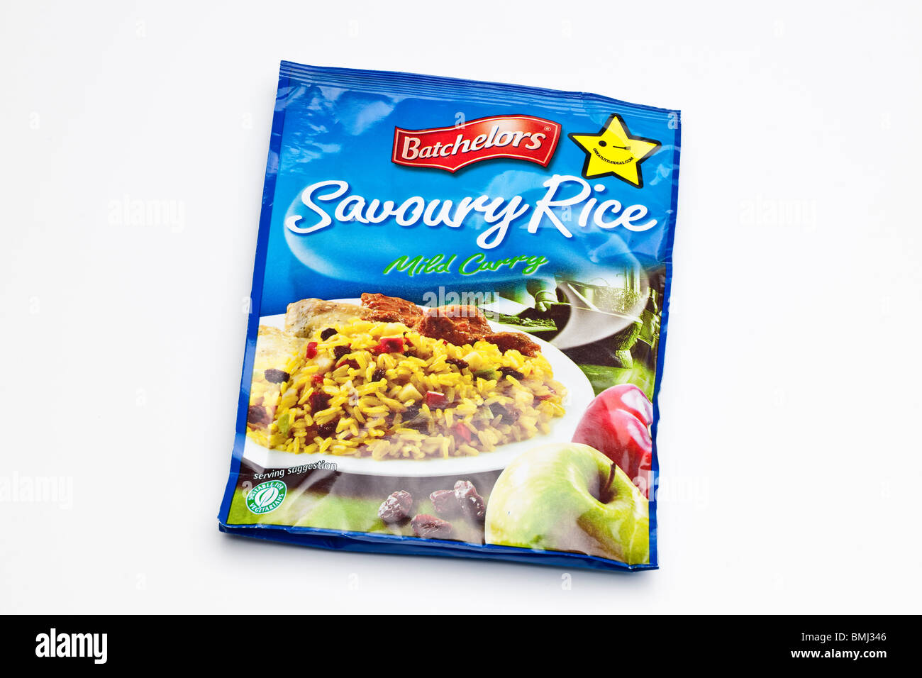 Packet of Bachelors Savoury rice mild curry flavour - Stock Image