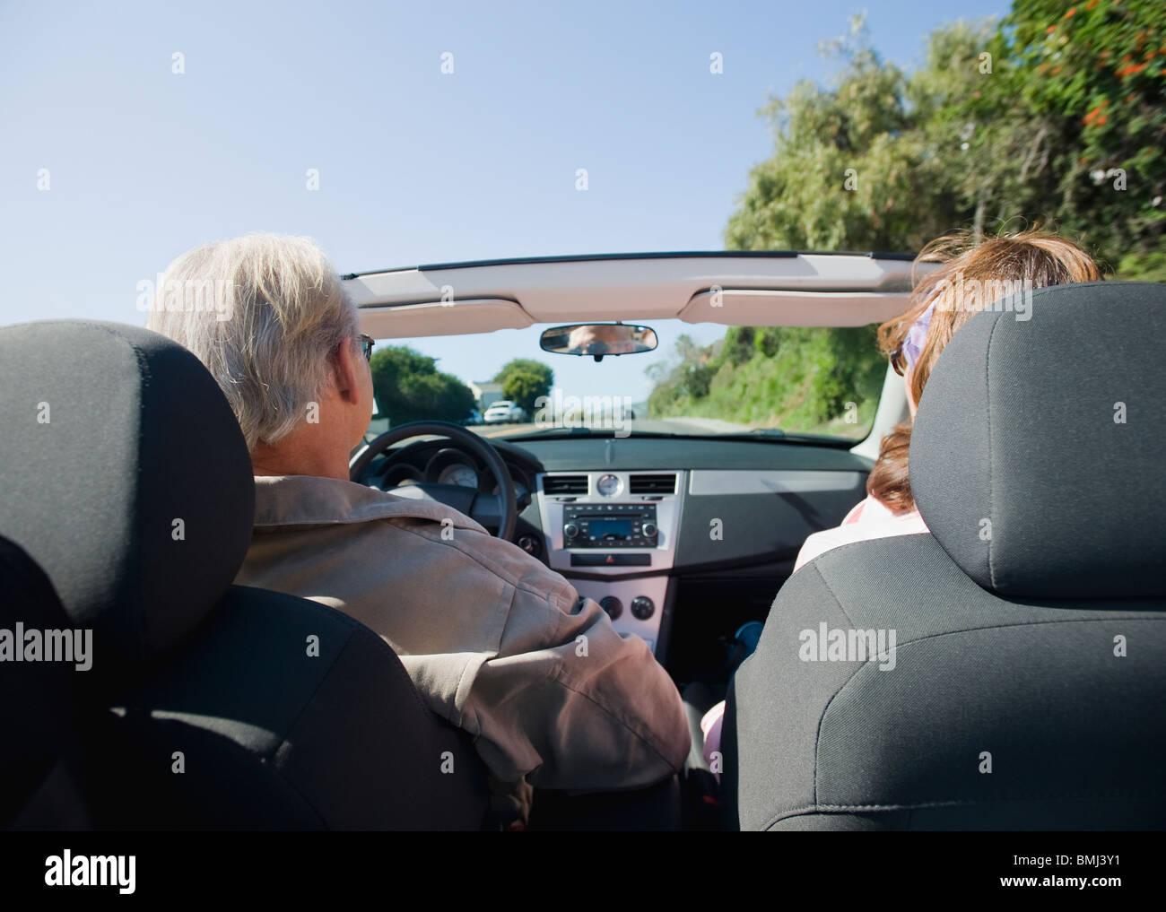 Couple on road trip Stock Photo