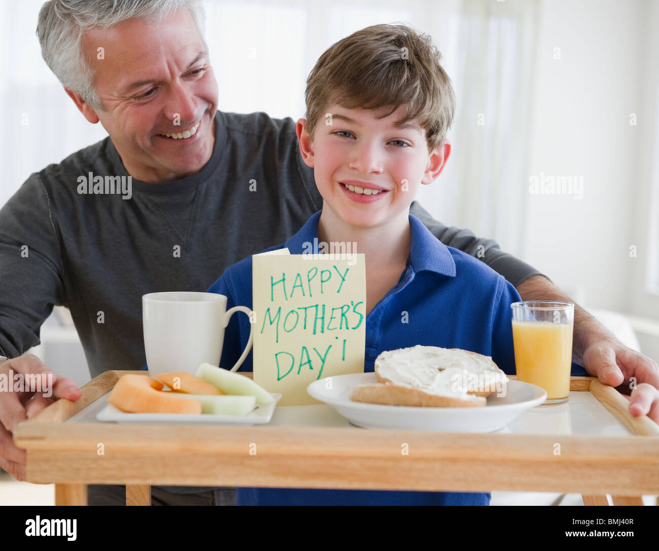 Breakfast In Bed For Mom High Resolution Stock Photography And Images Alamy