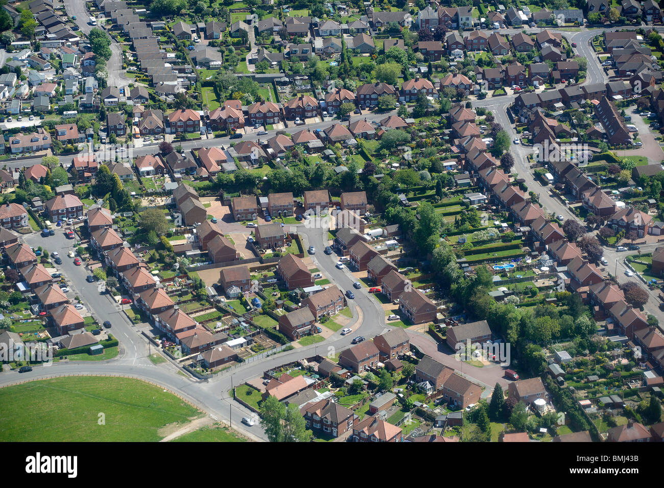 Suburban Britain, Nottingham, East Midlands, England, UK - Stock Image