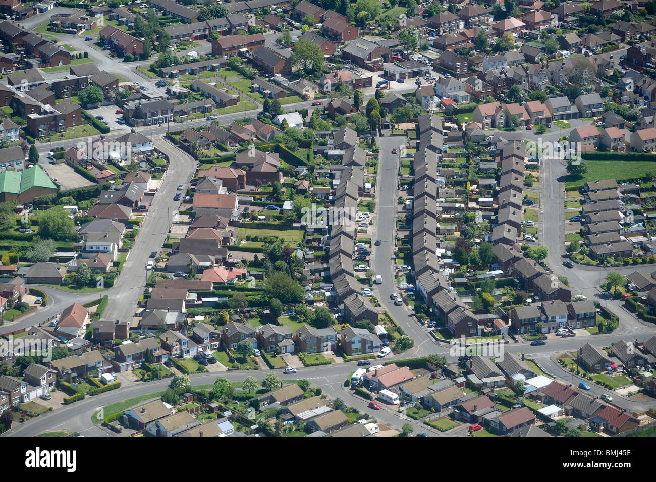 Suburban Britain, Nottinghamshire, East Midlands, England, UK - Stock Image