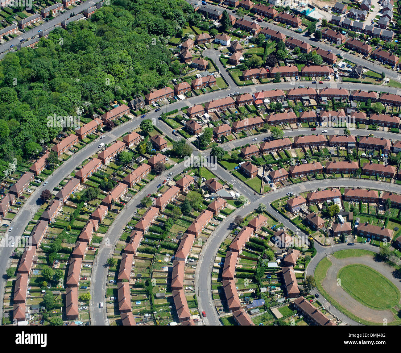 Suburban Britain, Local authority Estate, Nottingham,  East Midlands, England, UK - Stock Image
