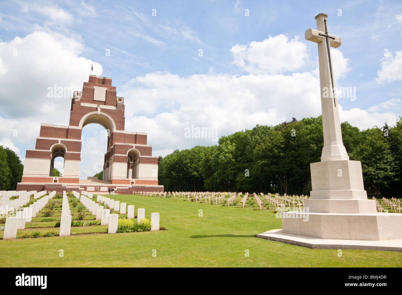Franco British Memorial at Thiepval to the 'Missing of the Somme' who died in the Battles of the Somme and - Stock Image