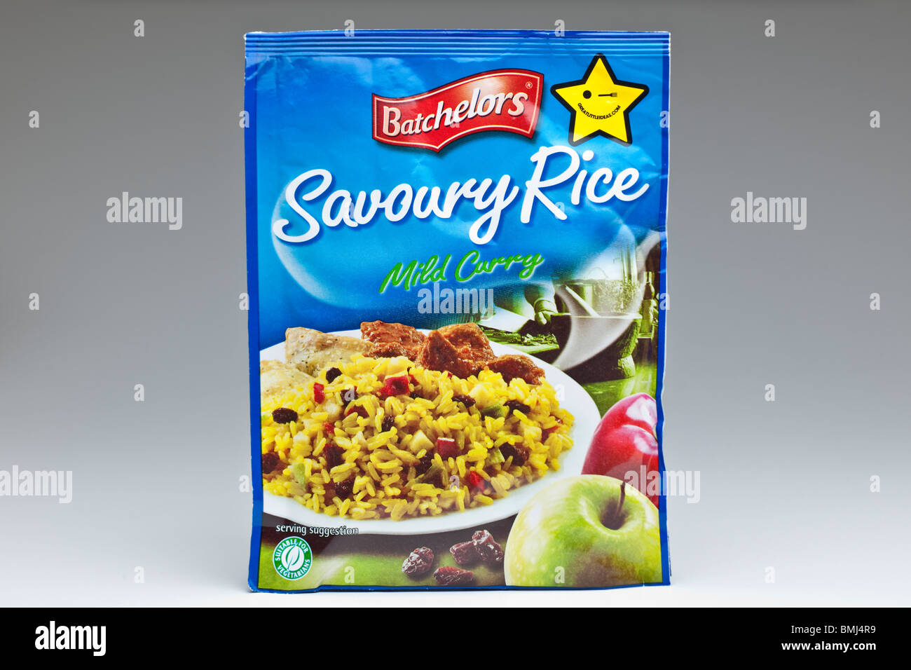 Packet of Batchelors Savoury rice mild curry flavour - Stock Image