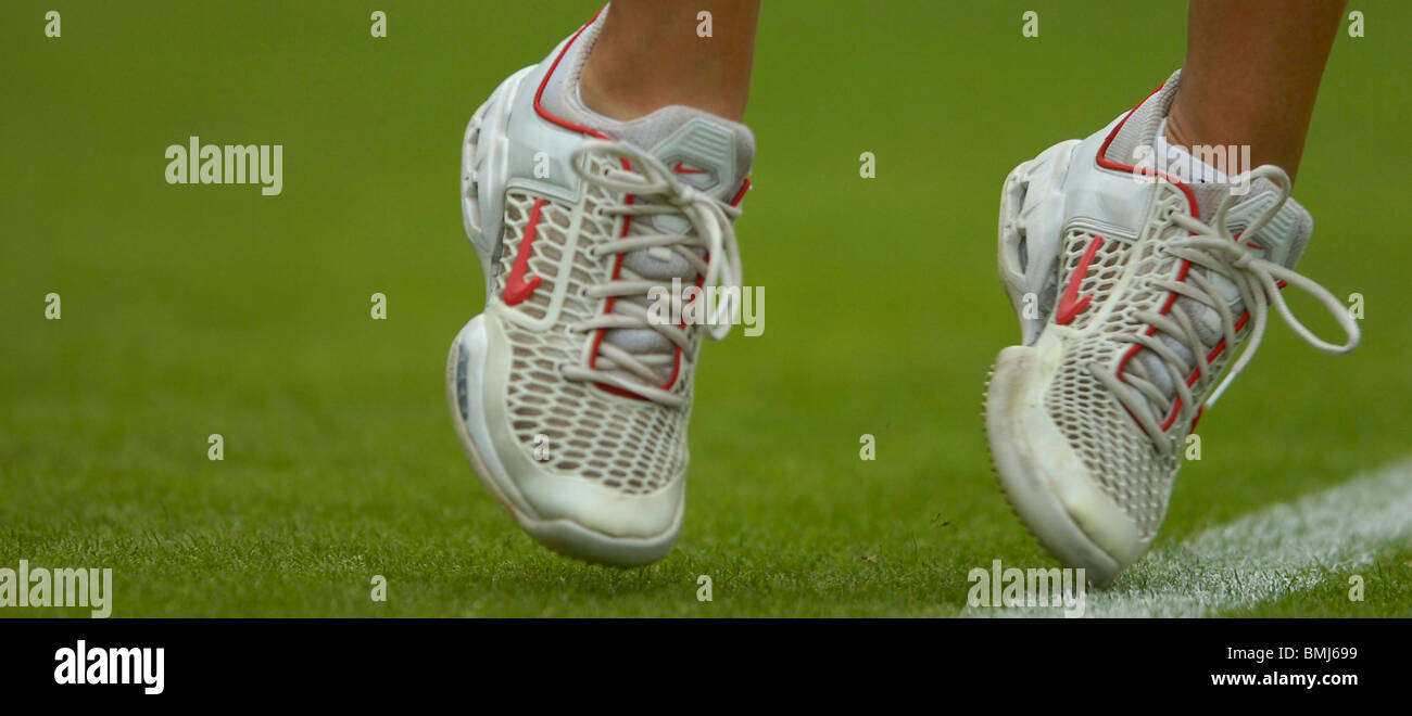 new products 5f433 a389d a pair of tennis shoes at ladies tennis wimbledon - Stock Image