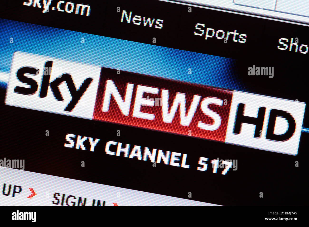 Sky News Website EDITORIAL ONLY - Stock Image