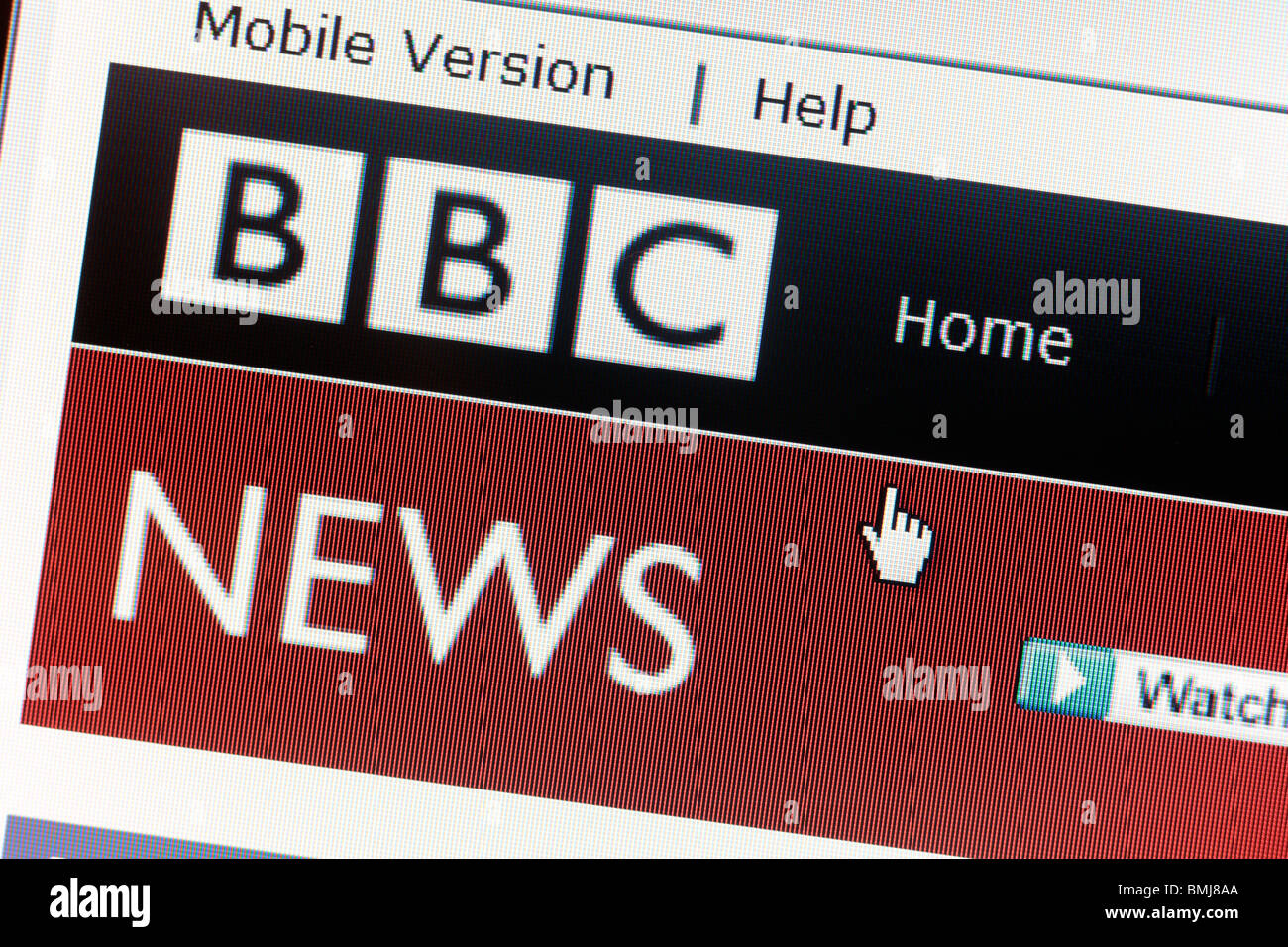 BBC News Website EDITORIAL ONLY - Stock Image