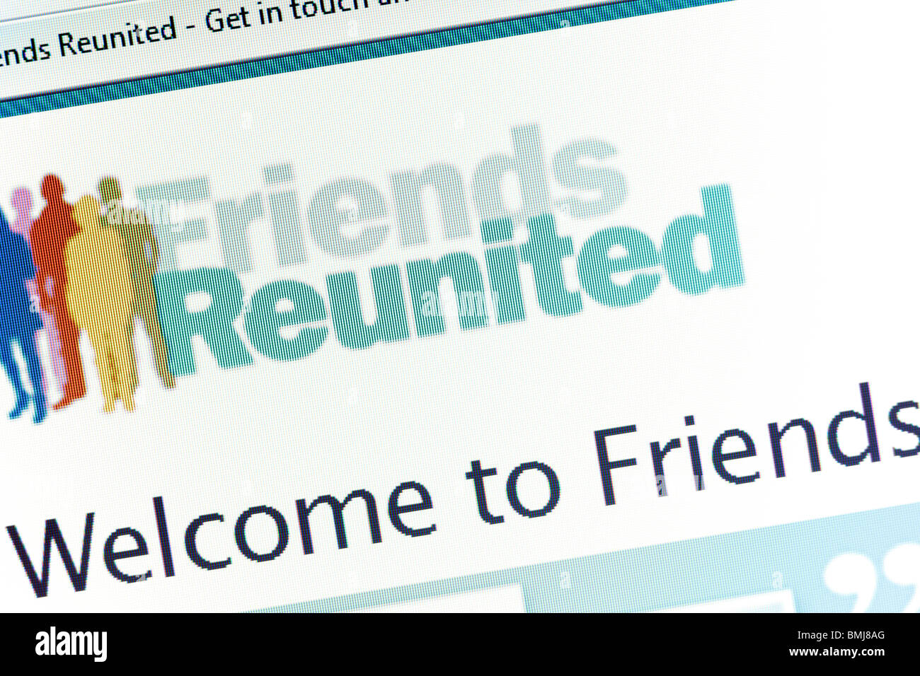 Friends Reunited Website EDITORIAL ONLY - Stock Image
