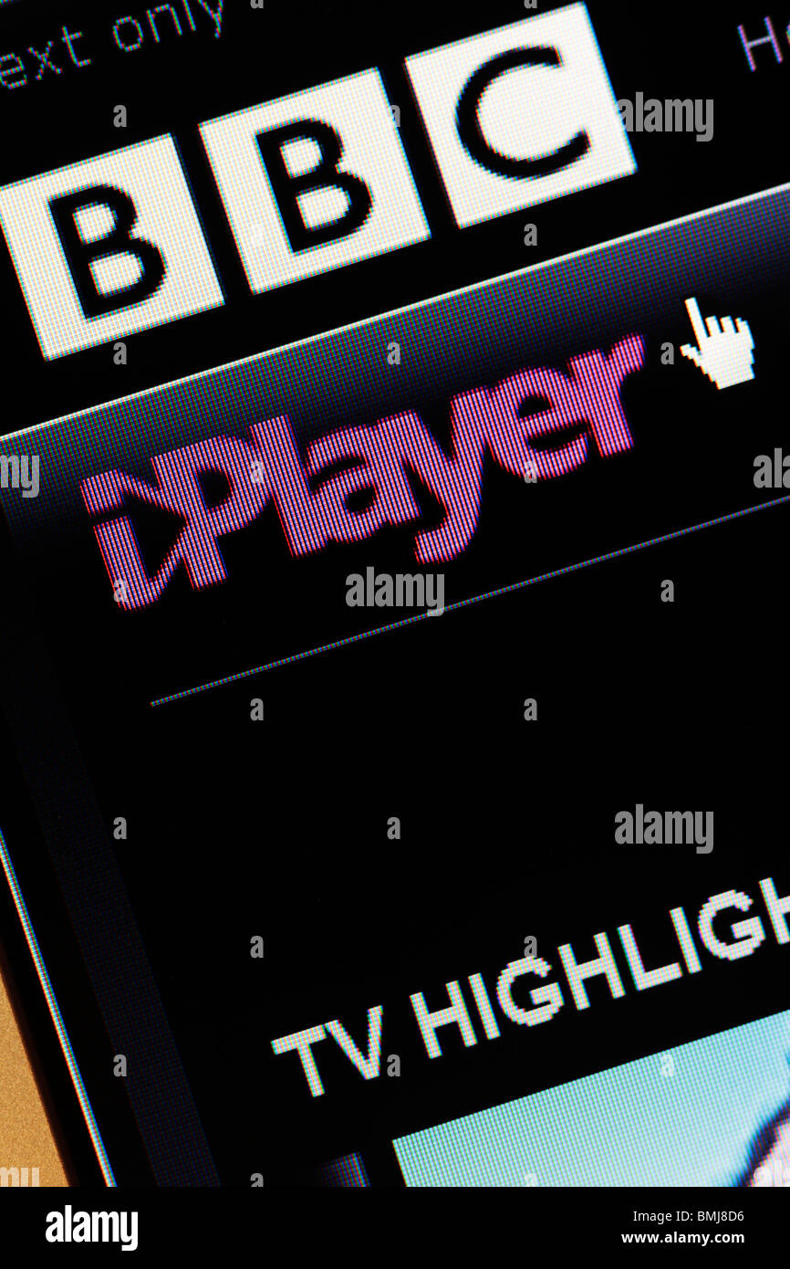 BBC Iplayer  EDITORIAL ONLY - Stock Image