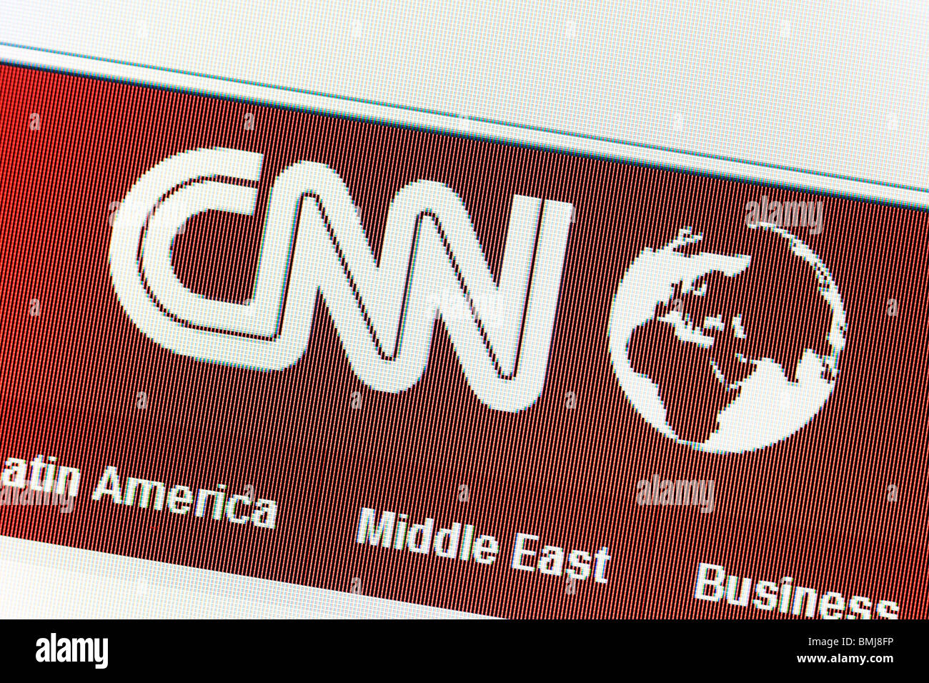 CNN News website EDITORIAL ONLY - Stock Image