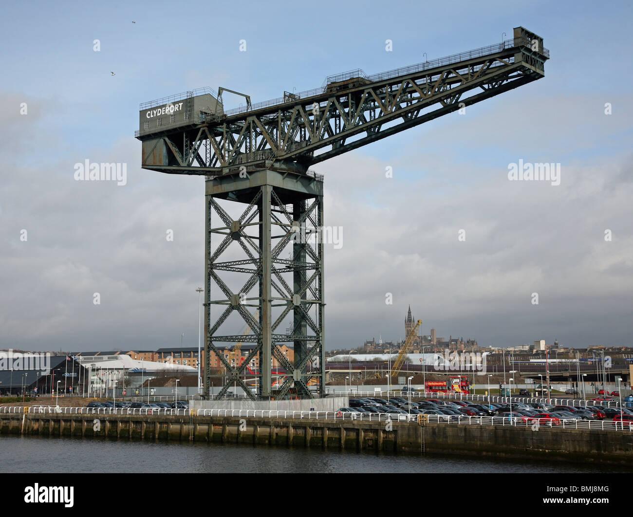 The Stobcross Crane or Finnieston Crane Clydebank Clydeside Clyde Glasgow Scotland - Stock Image