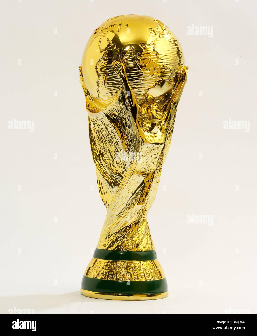 4fe529cf7da Football World Cup Trophy - replica FIFA on a plain background Stock ...