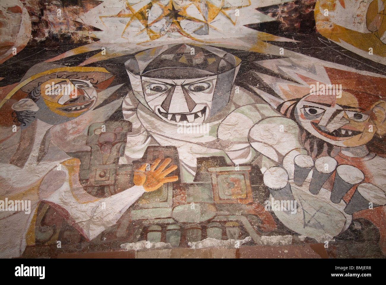 Historic town of San Miguel de Allende, Mural paintings, Mexico Stock Photo