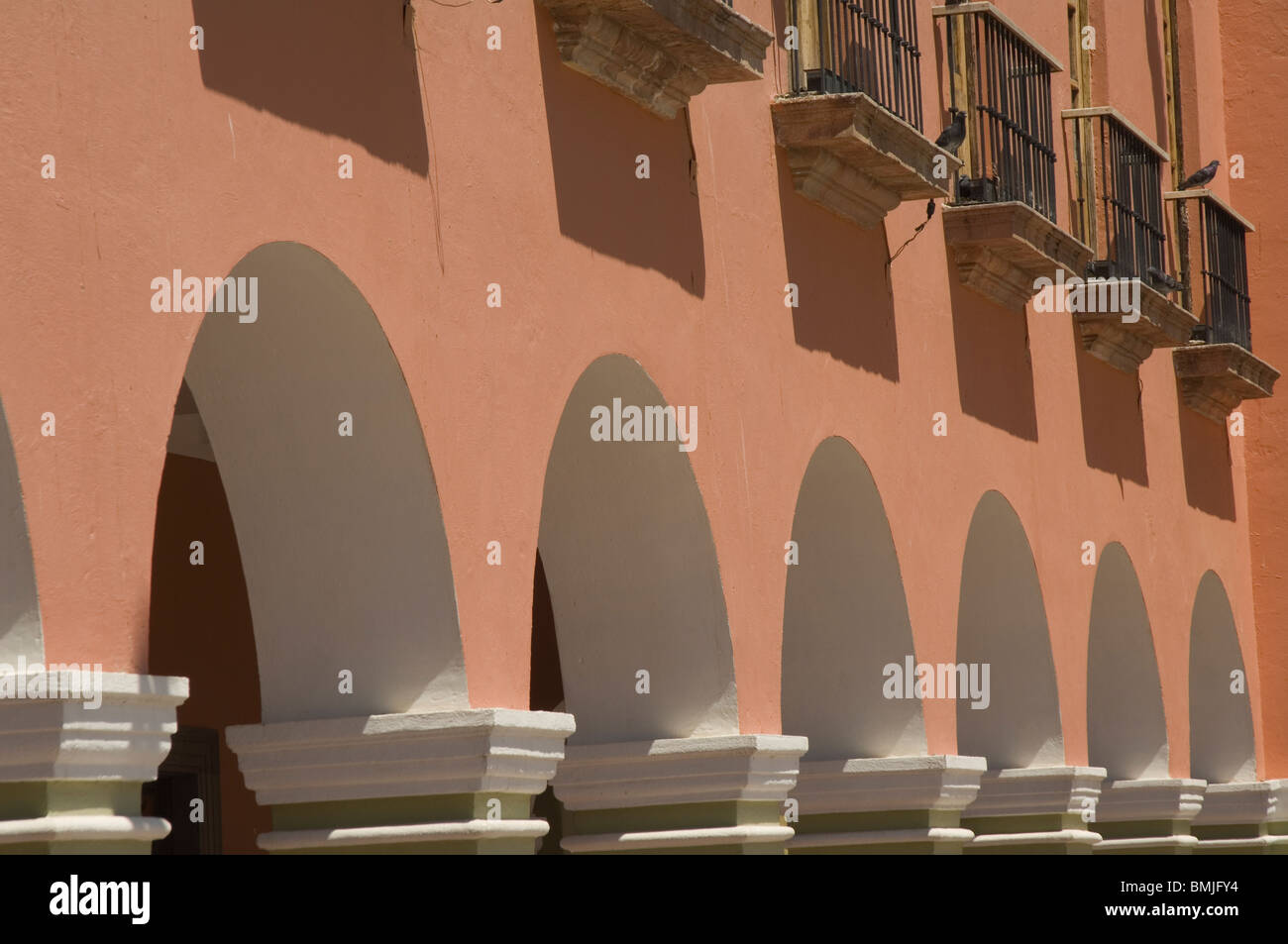 Historic town of Dolores Hidalgo, Colonnade, Province of Guanajuato, Mexico Stock Photo