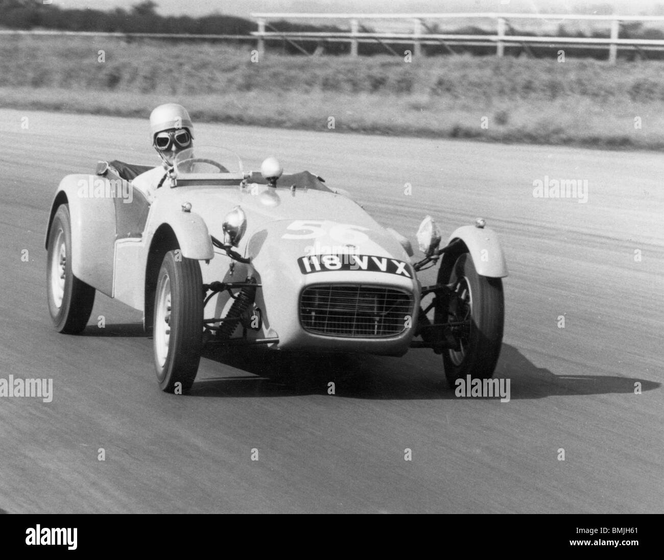 Lotus Seven at silverstone 1961 - Stock Image