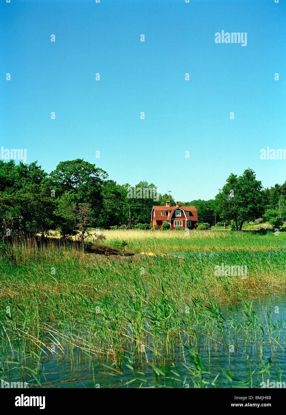 View of summer house - Stock Image