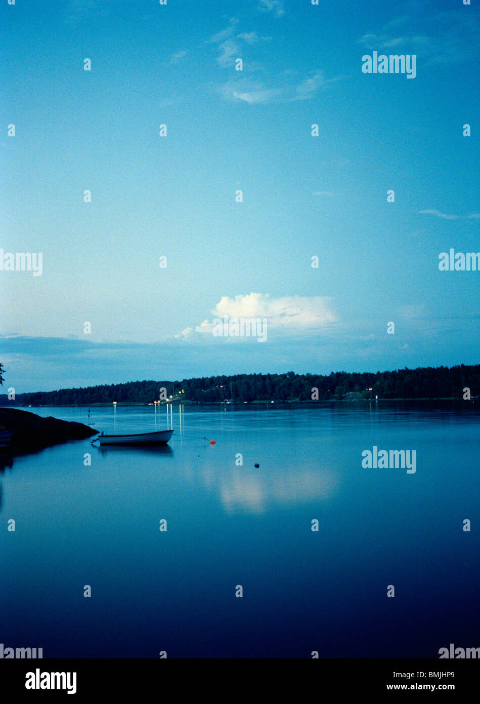 View of an archipelago in the evening, Sweden. - Stock Image