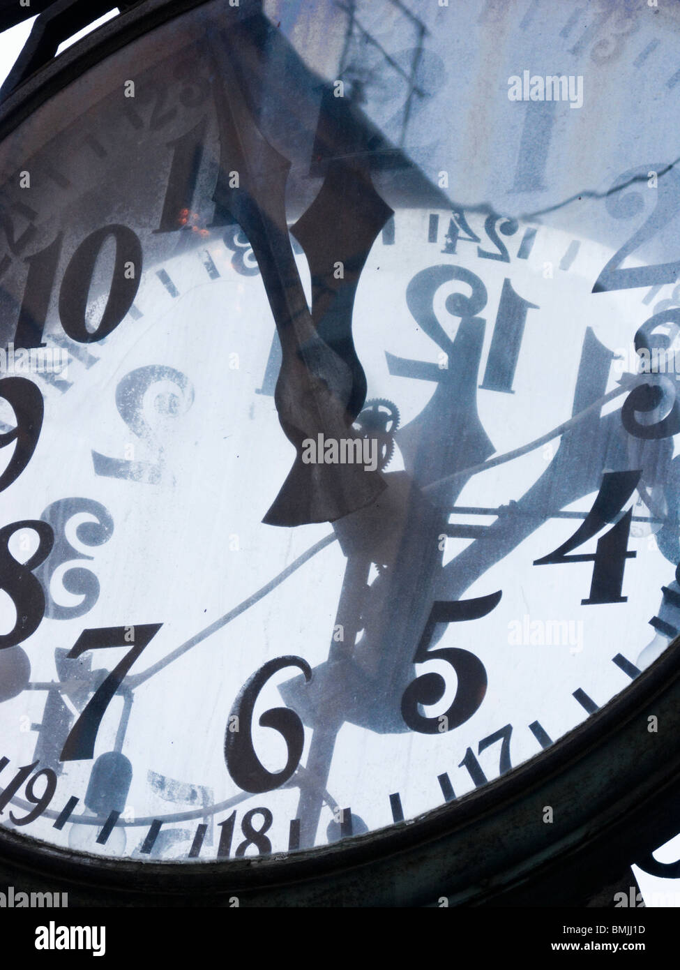 A clock, Sweden. - Stock Image