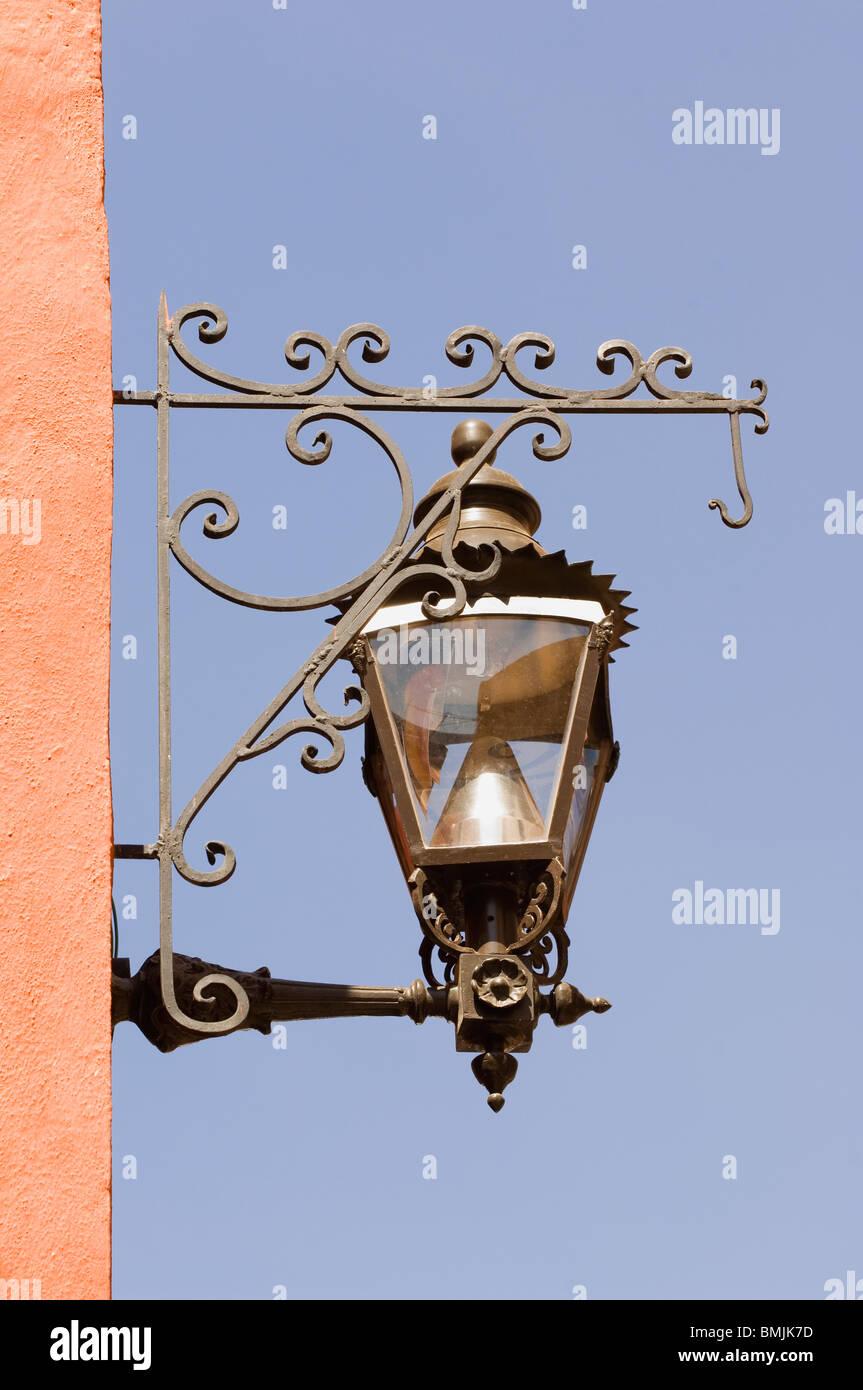 Historic town of Guanajuato, Street lamp, Province of Guanajuato, Mexico Stock Photo