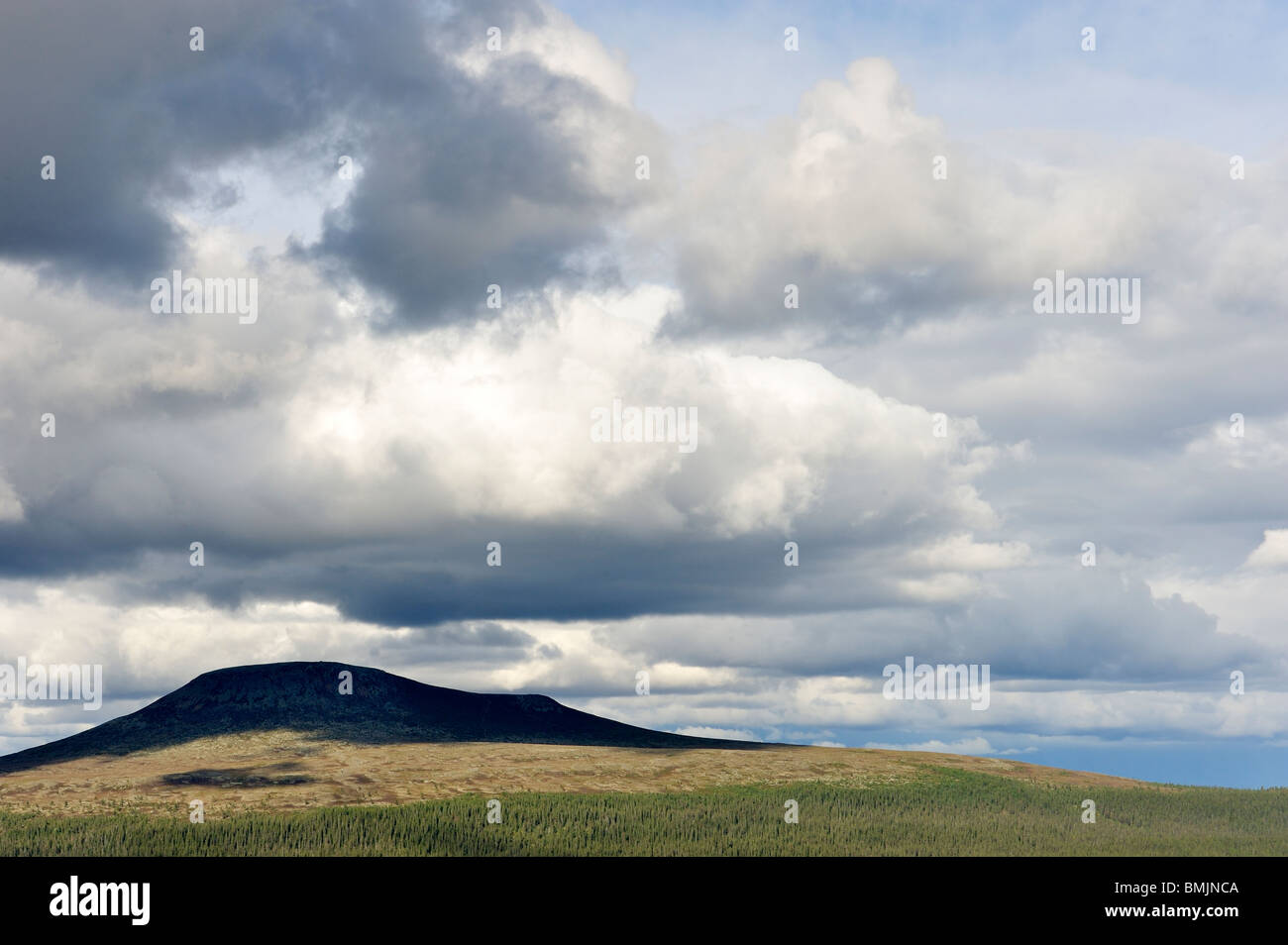 Mountain in the shade - Stock Image