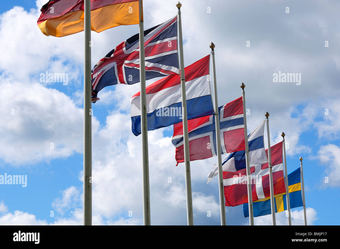 Scandinavian Peninsula Sweden Ostergotland Soderkoping Row Of Stock Photo Alamy