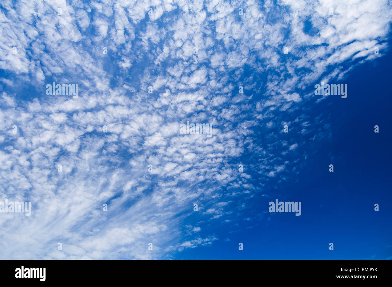 Clouds on a blue sky - Stock Image
