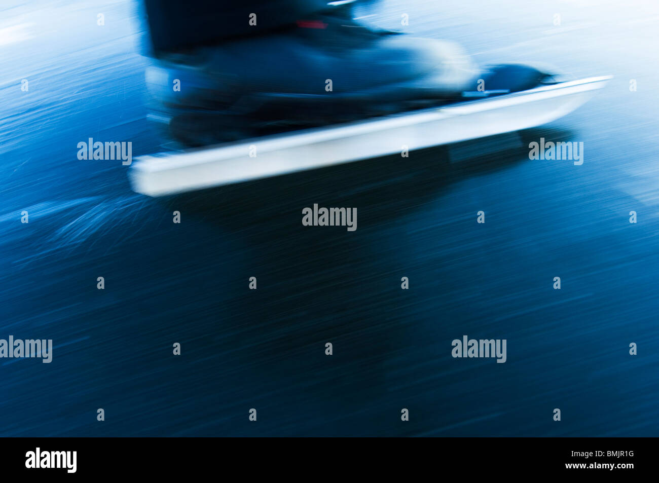 ice-skate,close-up - Stock Image