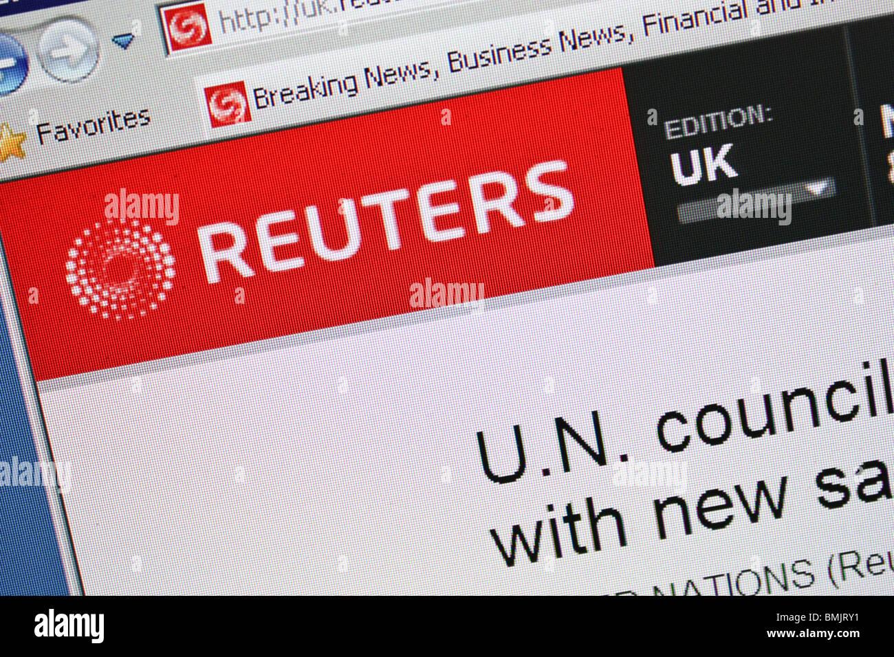 reuters uk online website global markets news - Stock Image