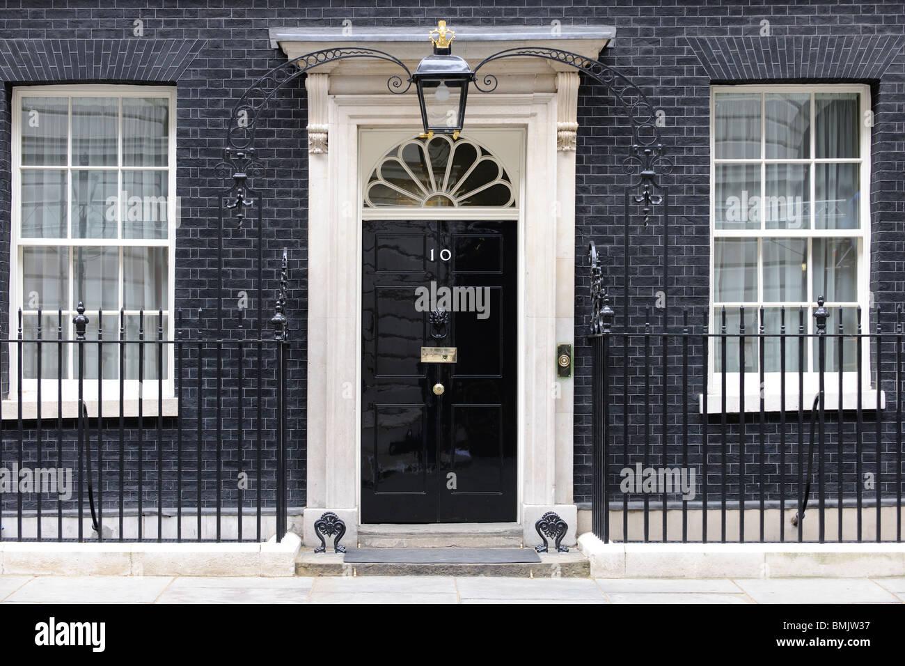 10 Downing Street, Whitehall, London, - Stock Image